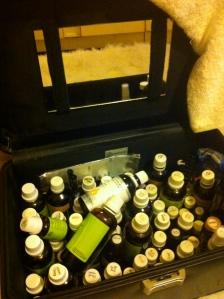 My lovely case of oils