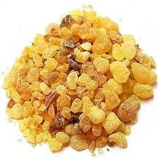 frankincense resin - the oil is steam distilled from this