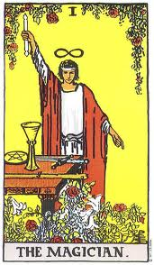 "The classic alchemist ""The Magician"" from the Rider-Waite Tarot deck"