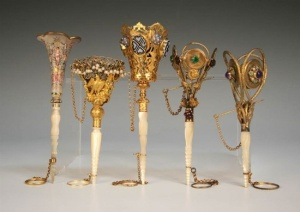 Victorian tussy mussy holders