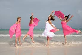 a happy beach wedding