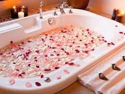 a petal bath - looks great but the cleaning -UGH!