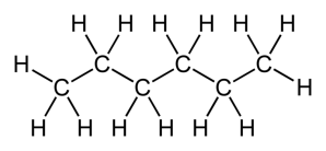 the structure of hexane - from wikipedia