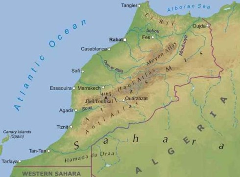 The Atlas Mountains in Morocco