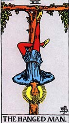 The Hanged Man - XVII from The Rider-Waite deck