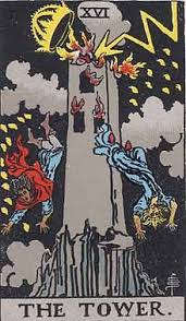 The Tower XV1 from the Rider-Waite tarot deck