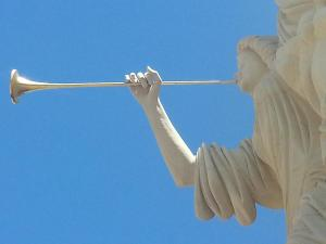 angel gabriel blowing his horn - gabe aguilar pic via finaartamerica.com