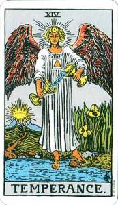 Temperance - XIV from the Rider-Waite deck