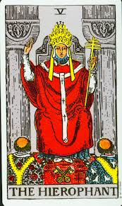 The Hierophant - V in the Rider-Waite Deck