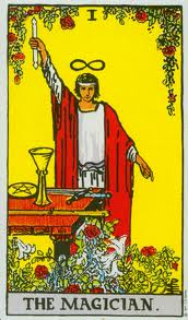 The Magician - I in the major aracna from the Rider-Waite deck