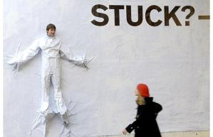 Are you feeling stuck? pic via pickthebrain.com