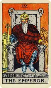 The Emperor - IV from the Rider-Waite Tarot Deck