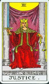 Justice - XI from the Rider-Waite deck