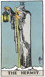 The Hermit - IX from the Rider-Waite tarot deck