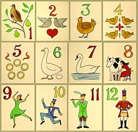 The 12 Days of Christmas folk song - pic via wikipedia.org