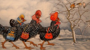 3 french hens - pic via www.booksillustrated.com