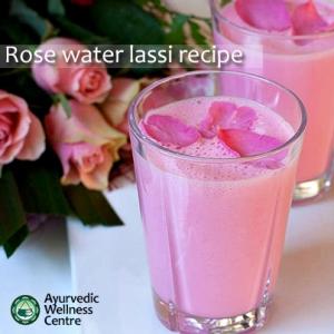 Rosewater lassi - pic via ayurvedicwellnesscentre.com.au