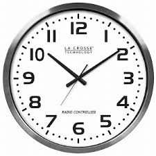 Analog clock - great for planning ahead