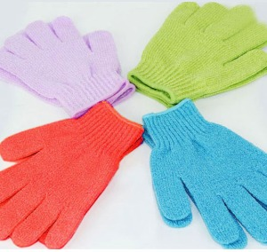 Exfoliating Gloves - pic via www.aliexpress.com