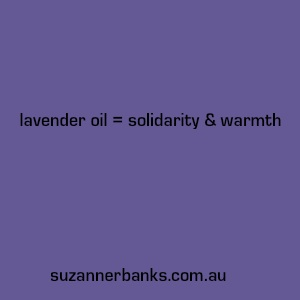 Even the colour of lavender is healing!