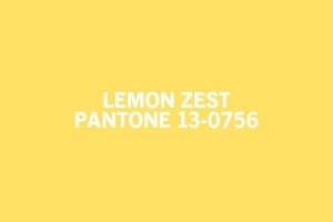 According to living.msn.com this Pantone colour Lemon Zest was a top colour for spring 2013