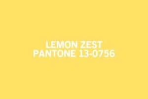 According to living.msn.com this Pantone colour Lemon Zest was a top colour for spring 2013