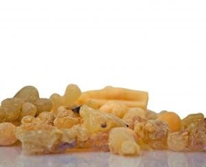 Frankincense resin in it's organic form is then distilled into an essential oil