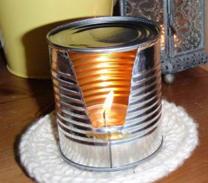 Check this out - an oil burner made from a can - pic via www.instructables.com
