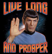 Live long and prosper, the Vulcan goodbye