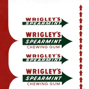 The classic Wrigley's Spearmint sticks