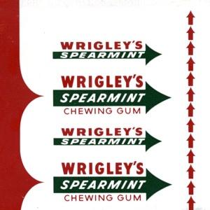 The classic Wrigley's Spearmint sticks