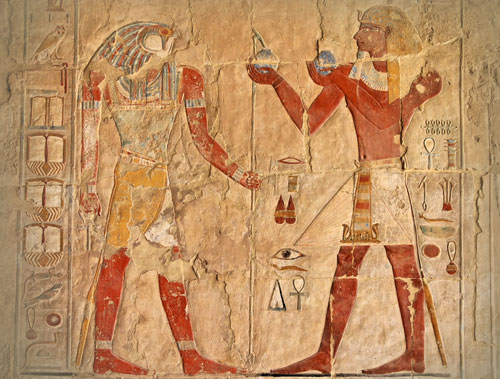 An image from Egypt depicting a scale & ingredients- pic via frangrantia.com