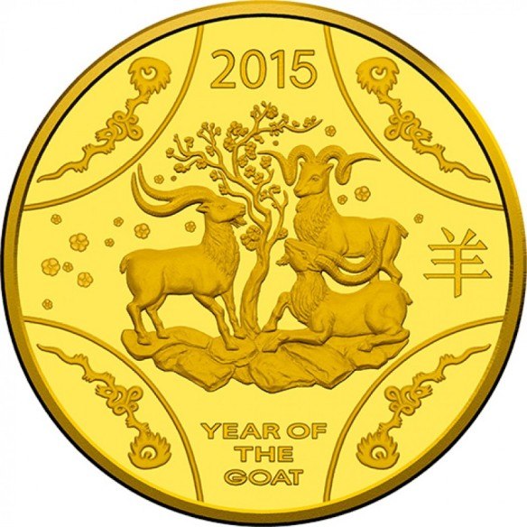 Year of the Wood Goat - pic via www.directcoins.com.au