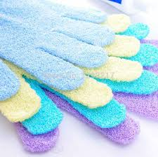 Body exfoliating gloves - pic via aliexpress.com