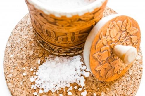 Salt makes a great base for a scrub