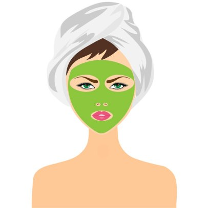 A clay face mask can make your skin feel so soft!