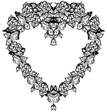 Old fashioned ornate heart