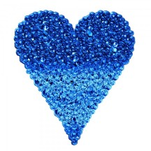 Blue bubble heart