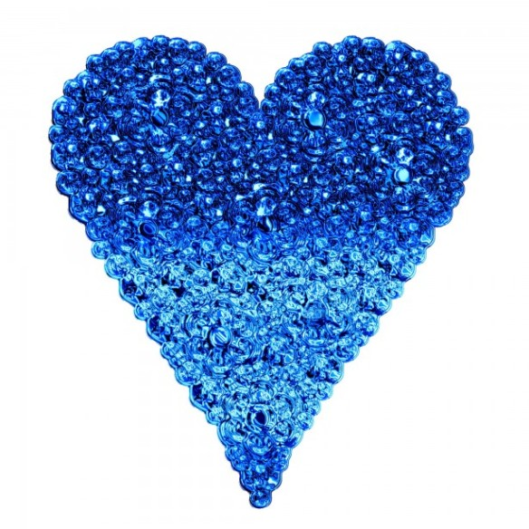Blue bubble heart