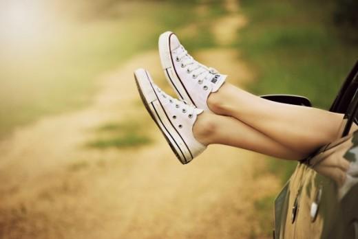 Body oils make lovely legs