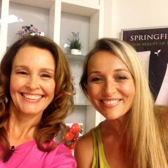 Me and Sarah on set
