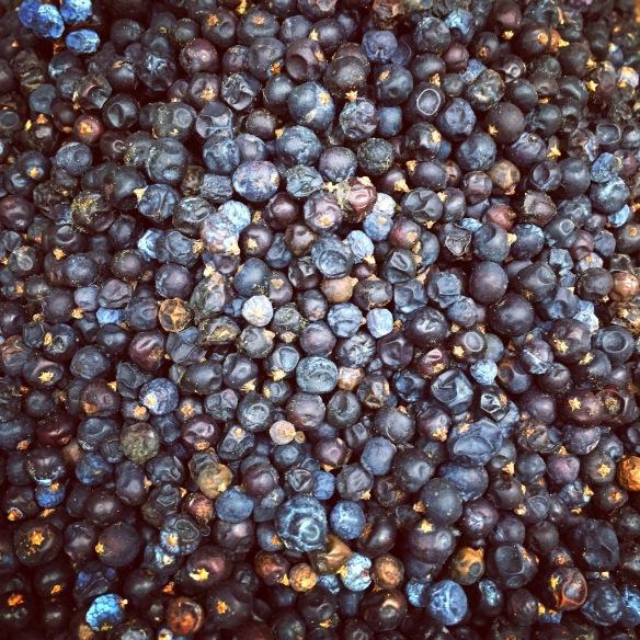 Juniper berries at the spice market