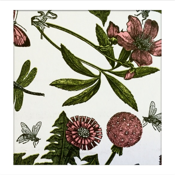 botanical gift wrapping paper