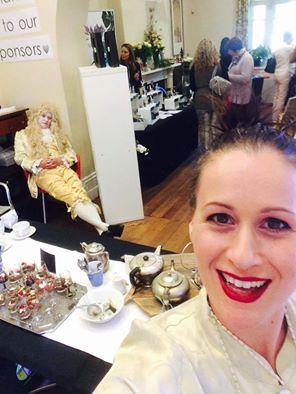 Rebekah serving tea