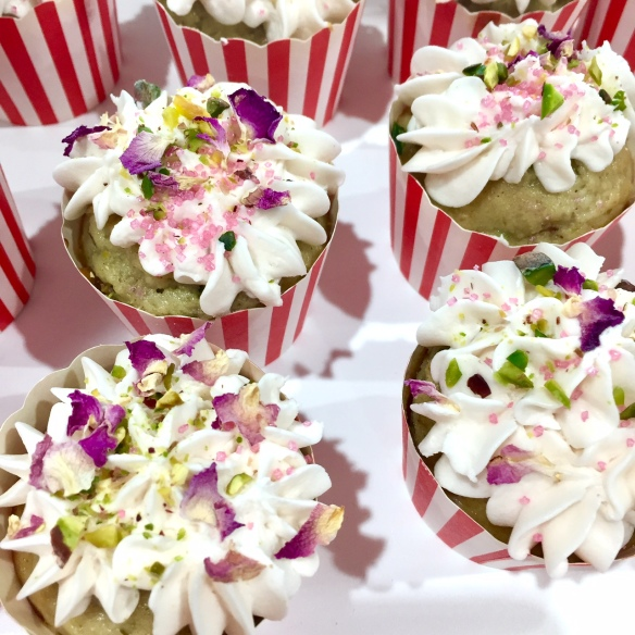 Persian Love cupcakes with rose water