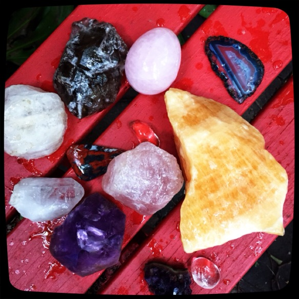 crystals waiting the charge of the moon