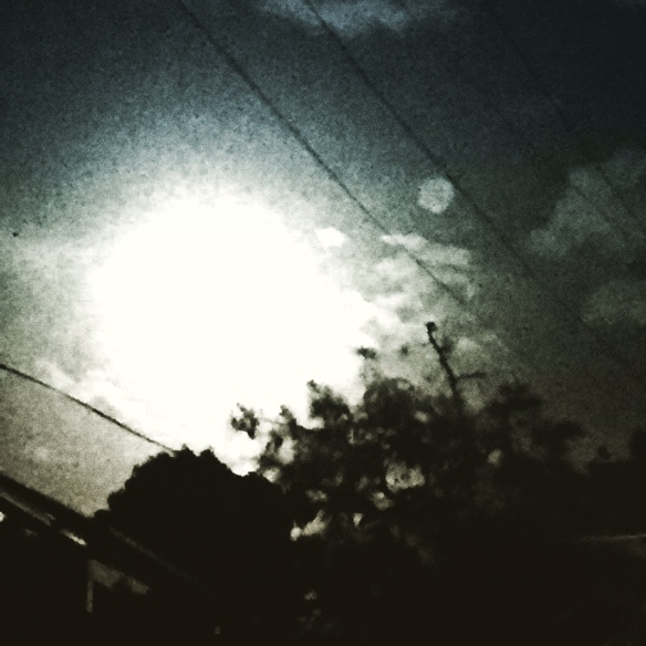 Super moon over urban Sydney