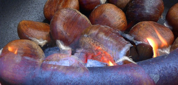 open fire - chestnuts - yum!
